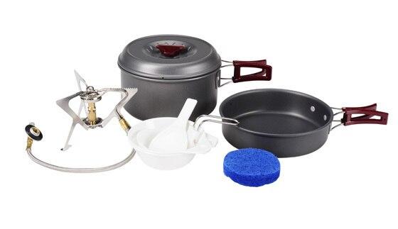 2 Camping personne marmite ustensiles Pots extérieure définit Camping poêle BL200-C6