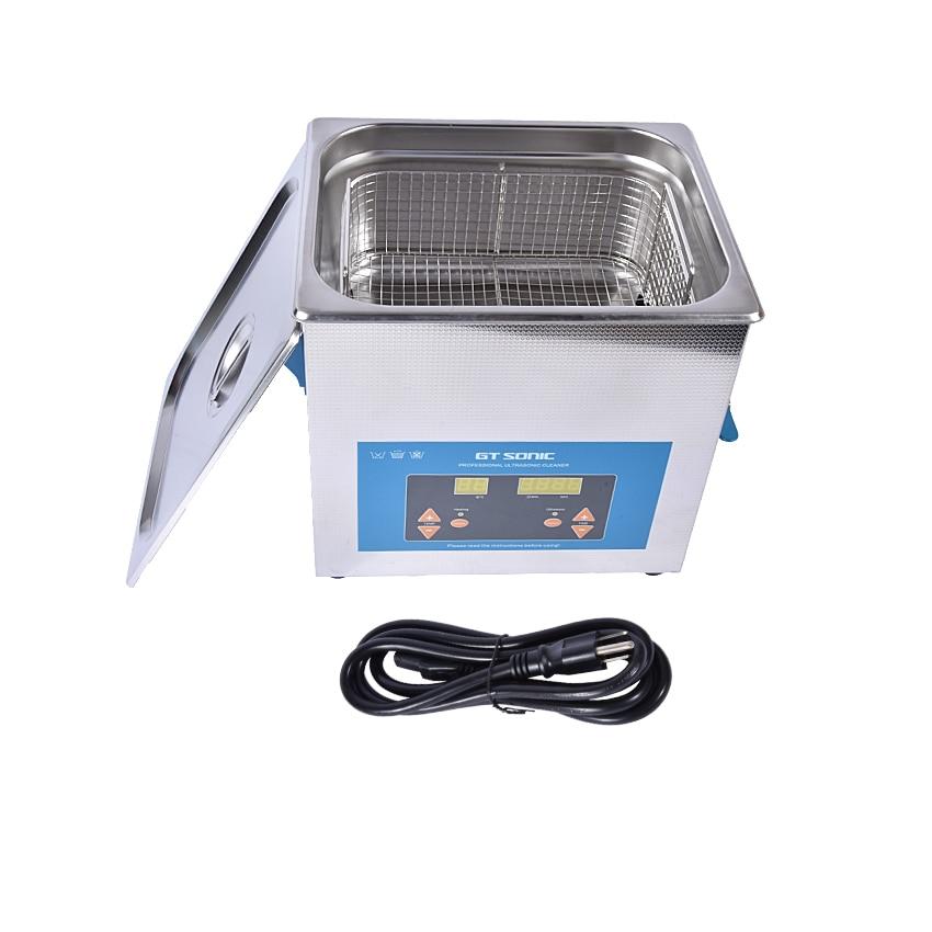 1 шт. цифровой VGT 1990QTD 110/220 V Профессиональная Ультразвуковая баня ювелирные изделия для ванной бытовой 9L 200 Вт Регулируемая Бесплатная корзина - 6