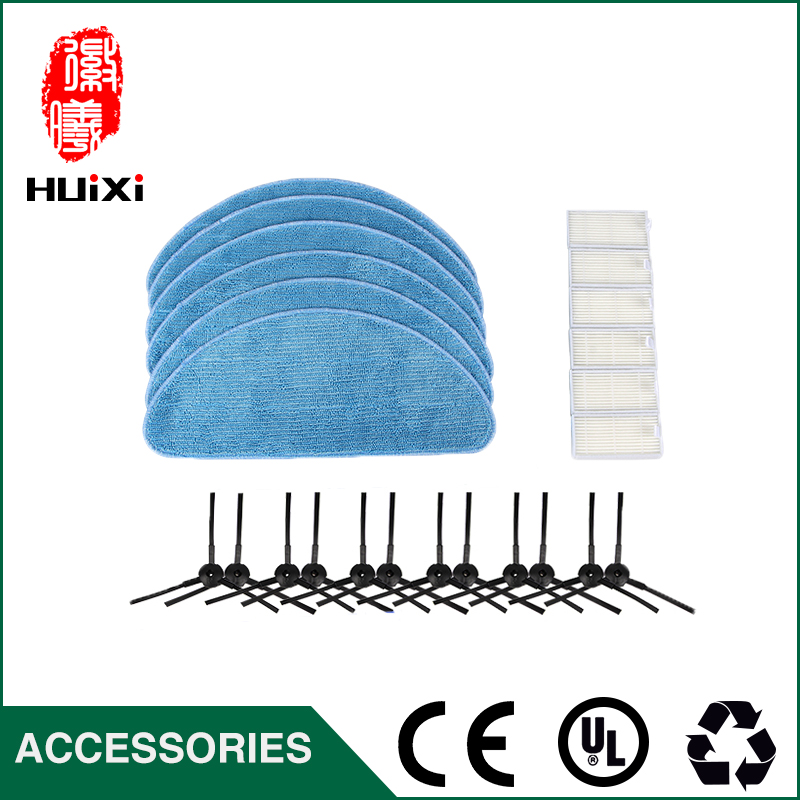 6pcs Microfiber Mopping Cloth & 6pcs HEPA Filter & 6pcs Side Brush Durable Home Cleaner for CEN250 CEN663 Vacuum Cleaner Parts cheapest 1pcs cleaning mopping cloth 3 pair hepa filter 3 pair cleaner side brush for dt85 dt83 dm81 vacuum cleaner for house