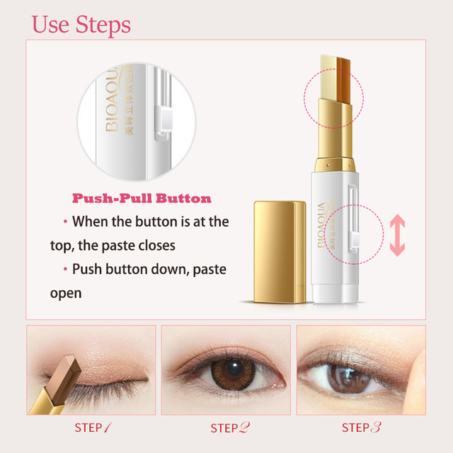 Double Color Eyeshadow Stick Stereo Gradien Shimmer Color Eye Shadow Cream Pen Eye Makeup Palette Cosmetics Smooth Makeup Pencil 4