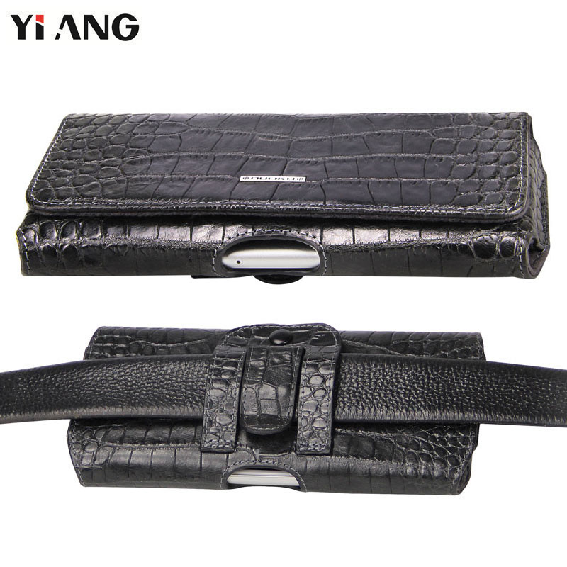 Waist Bag for Men YIANG Brand Genuine Leather Cowhide Waist Packs Crocodile Pattern Design Luxury Belt Bag Leather Belt Pouch 3d florals pattern u pouch design voile briefs