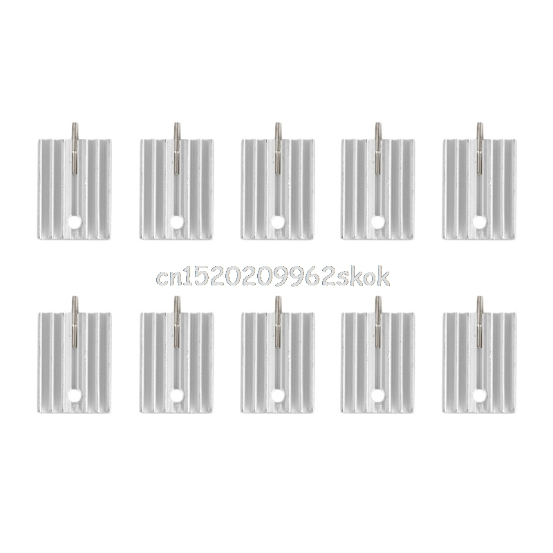 10Pcs TO-220 Aluminum Heatsink Transistor Radiator Heatsink Cooler Cooling 21MM #H029# nce60h15 to 220
