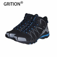 GRITION Fashion Men Boots Winter Shoes Warm Plush Ankle Boots 2018 Brand New Wedge Snow Boots