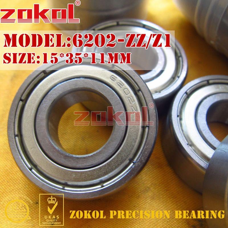 ZOKOL 6202ZZ Z1 bearing 6202 ZZ Z1 80202 Z1 6202Z Z1 Deep Groove ball bearing 15*35*11mm gcr15 6326 zz or 6326 2rs 130x280x58mm high precision deep groove ball bearings abec 1 p0