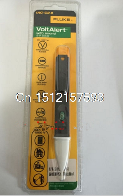 1AC-C2-II Electric Power Voltage Tester VoltAlert Pen Detector AC200-1000V Fluke 1pcs electric indicator 90 1000v socket wall ac power outlet voltage detector sensor tester pen led light drop ship wholesale
