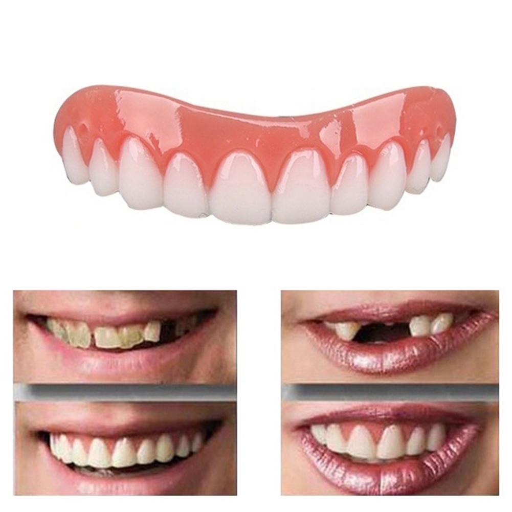 Hot 1Pc Cosmetic Teeth Snap On Secure Smile Veneers Dental False Natural