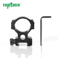 Fiery Deer Optical Sight Bracket Scope Mount Rings 20mm Rail Ring Outdoor Camping Hunting Tool / M3006