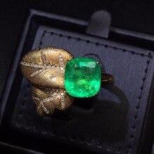 Хорошее ювелирное изделие AGL Настоящее чистое 18 К золото натуральный изумруд 4.73ct драгоценные камни ювелирные изделия женские кольца для женщин изящное кольцо