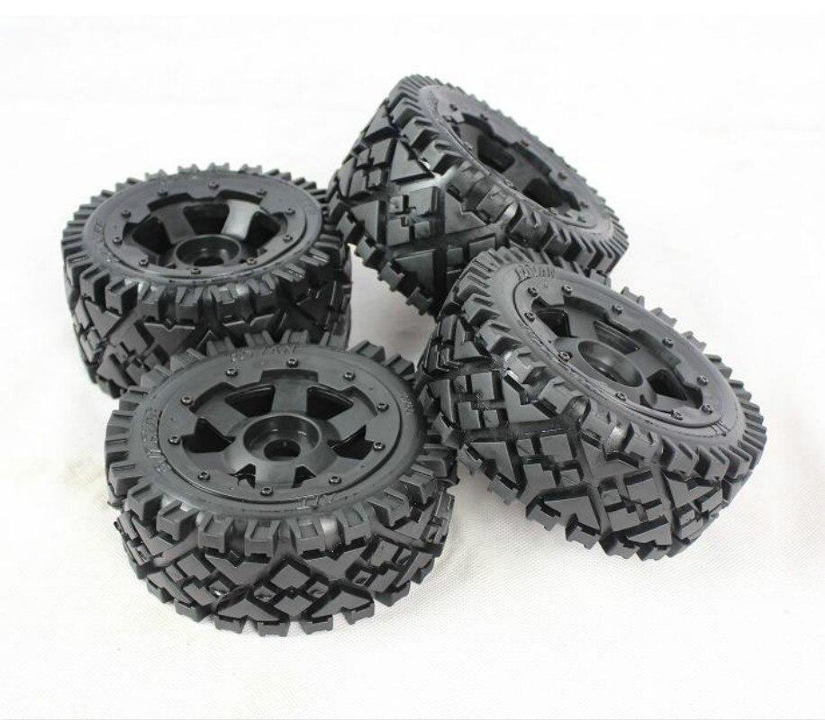 All Terrain Tires Wheels for 1 5 HPI KM ROVAN Baja 5B 2 0 RC Car