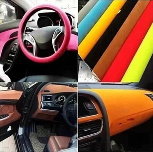 Multi Color Promotion Suede Fabric Velvet For Car Wrap Vinyl Interior And  Exterior Decoration 12