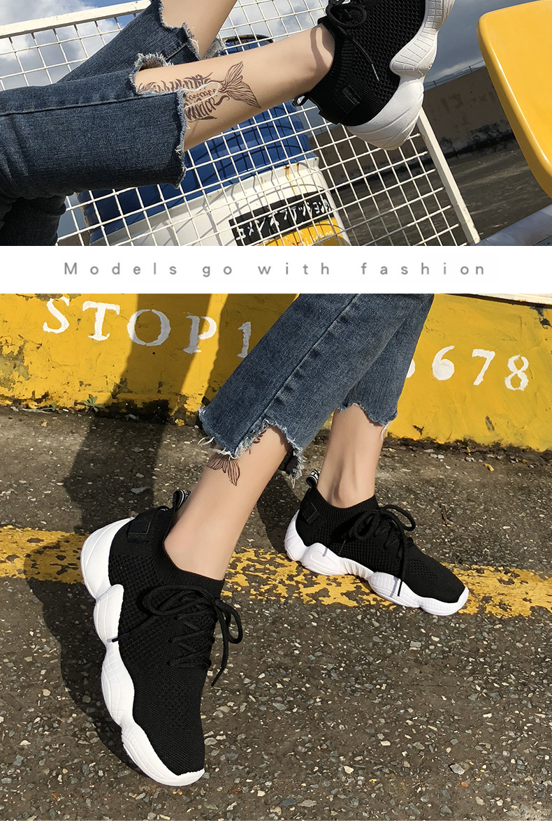 HTB1.Wx9RpzqK1RjSZFoq6zfcXXai Women Mesh Spring Sneakers Ladies Lace Up Stretch Fabric Platform Flat Vulcanized Casual Shoes Female Breathable Fashion