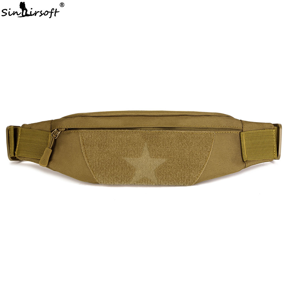 SINAIRSOFT Tactical Military 5.5/6.5 inches phone Waist Bag Outdoor Fishing Hiking Camping Running Crossbody Molle Shoulder Bags