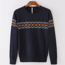 PORT&LOTUS Mens Sweater Solid Pullover Brand Clothing O-Neck Print Long Sleeve Sweaters LSLSQF1539