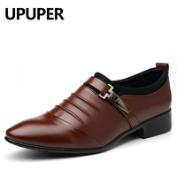Big Size 38 48 Men Dress Shoes Brown Wedding Shoes Spring Winter Pointed Toe Flat Business