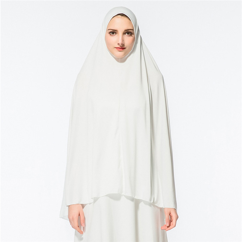 New Women's Prayer Khimar Ready To Wear Long Hijab With Under Scarf  Bonnet Islam  Super Soft Women's Hijabs 2019 Hot