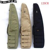 Tactical 120 cm pesante cassa del fucile pistola slittamento bevel trasporta il sacchetto di spalla del sacchetto caccia, zaini per la caccia