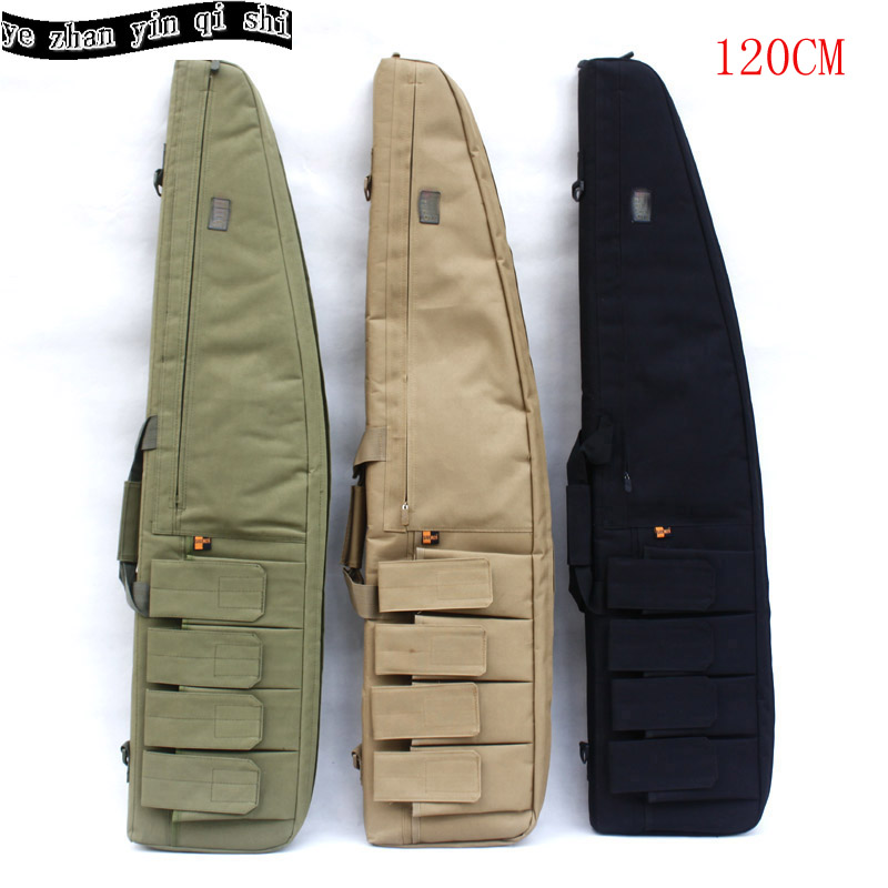 Tactical 120CM Heavy Gun slip Bevel Carry Bag Rifle Case shoulder pouch Hunting Backpack Bags for Hunting 47 folding fishing rod bag tactical duel rifle gun carry bag with shoulder strap outdoor fishing hunting gear accessory bag