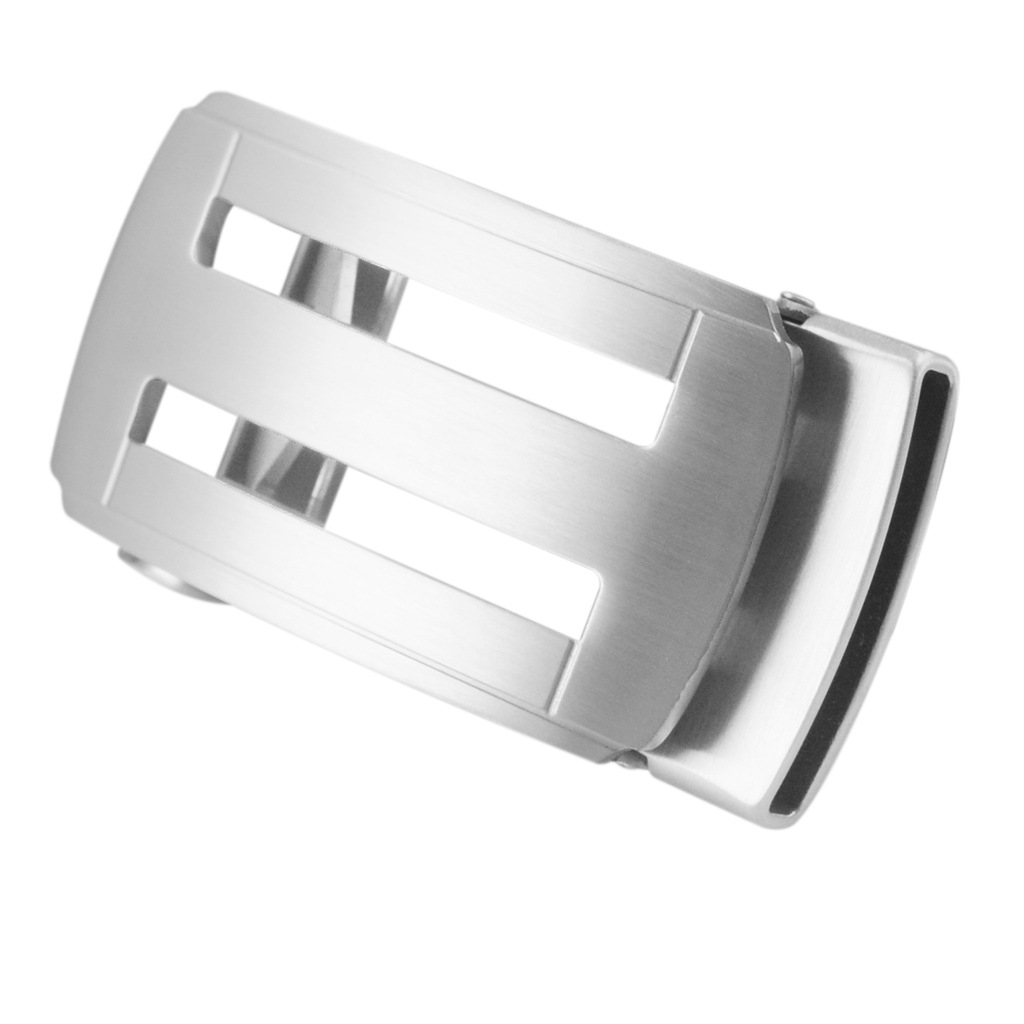 High-grade 304 Stainless Steel Simple Hollow Out Automatic Belt Buckle Male Geometric Belt Fittings Accessory