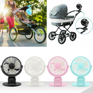 New USB Fan Desk 360-Degree Rotation Adjustable Rechargeable 3 Speed Clip On Mini Desk Pram-Cot For Car Travelling Baby Stroller