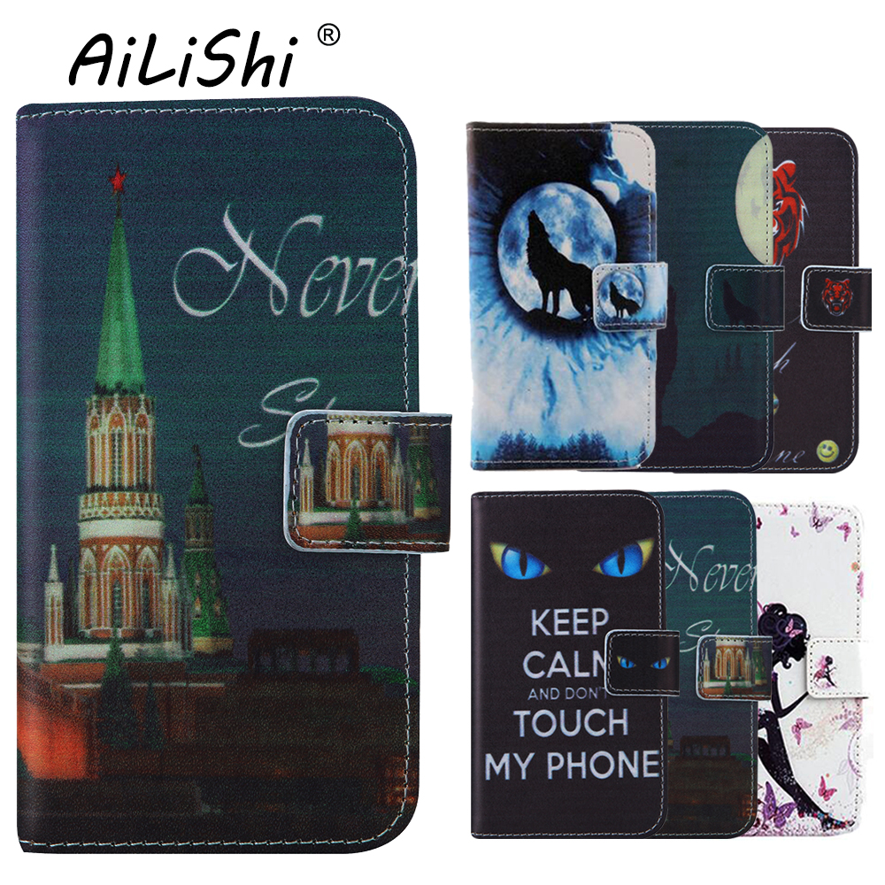 AiLiShi Funny Cute Elegant Patter Protect Leather Cover Phone Case For Ginzzu ST6120 <font><b>ST6040</b></font> S5510 Shell Wallet Etui Skin image