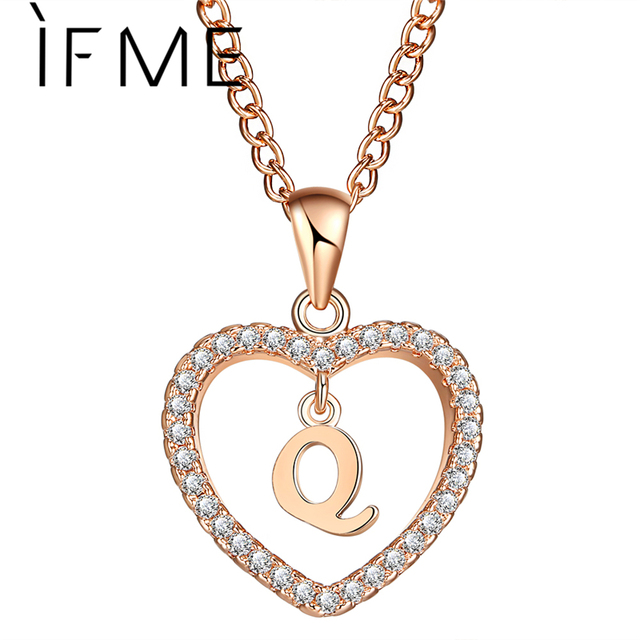 If me fashion q wold love heart letter name necklaces pendant if me fashion q wold love heart letter name necklaces pendant charms women q letters aloadofball Image collections