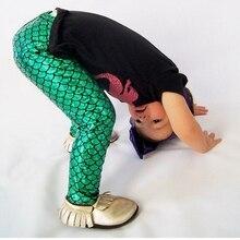 Mermaid Baby Leggings,Little Leggings,capris Girl clothes baby toddler child spandex pants Outfit Set,Headband