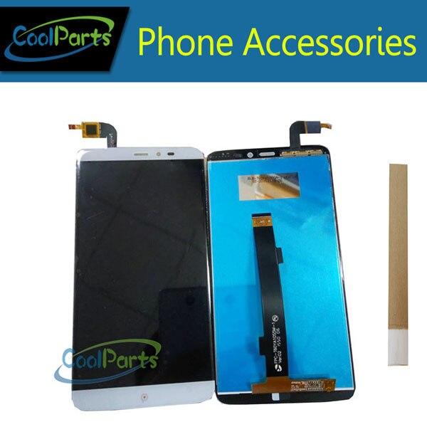 1 pc/lot Haute Qualité Pour PPTV Roi 7 PP6000 LCD Écran + Écran Tactile Digitizer Pièce De Rechange Avec du Ruban Adhésif blanc Couleur