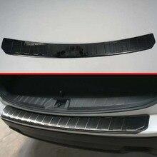 Для Subaru Forester SK Нержавеющая сталь Черный титан задний бампер Защита подоконник снаружи багажника декоративные