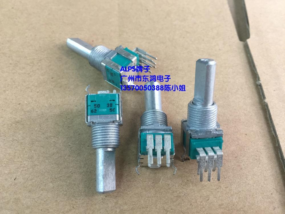 2PCS/LOT ALPS Alps RK09L Precision Potentiometer Double B50K*2 Axis Long 20mm Power Amplifier Potentiometer