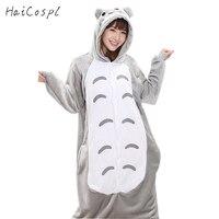 Totoro Zestaw Kobiety Anime Cosplay Costume Onesie Piżamy Cute Cat Piżamy Flanelowe Zimowe Ciepłe Dorosłych Zwierząt Festiwal Karnawał Fantazyjne