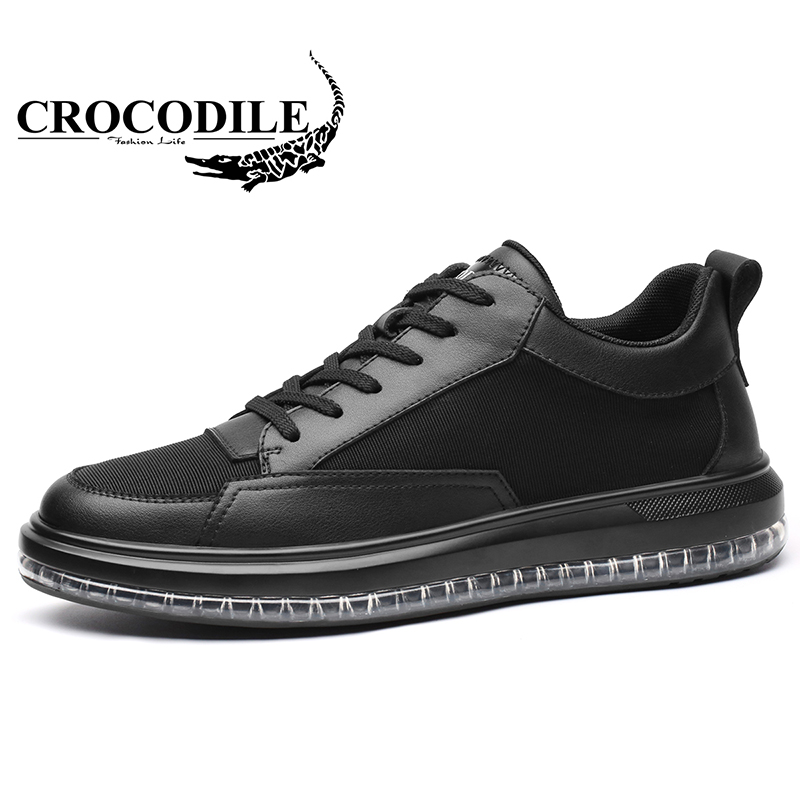 Crocodile Men Leather Running Sneaker Male Cushioning Soft Sport Shoes Breathable Leatherwear for Mens Jogging Walking ShoesCrocodile Men Leather Running Sneaker Male Cushioning Soft Sport Shoes Breathable Leatherwear for Mens Jogging Walking Shoes