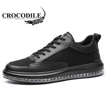 Crocodile Men Leather Running Sneaker Male Cushioning Soft Sport Shoes Breathable Leatherwear for Men's Jogging Walking Shoes