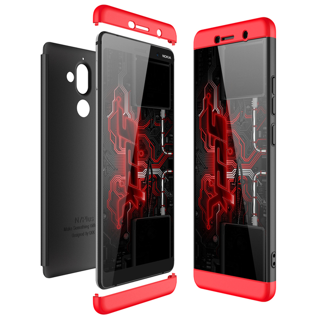new styles 7e26b c05bd US $4.99  For Nokia 7 Plus Case 360 Full Body Protection Slim Armor Case  for For Nokia 7Plus Hard Hybrid PC Matte Cover Fundas-in Fitted Cases from  ...