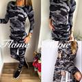2016 new winter camouflage suit cotton round neck knee hole stock sale