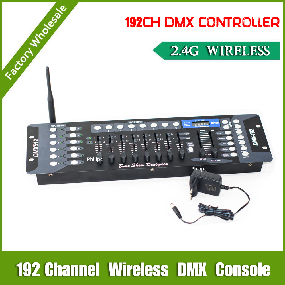 DHL Free Shipping 192CH 2.4G Wireless DMX controller with DMX console controller wireless dmx tranciever receiver dhl ems free shipping 5pcs lot dmx 512 wireless console receiver 2 4g wireless dmx512 r t