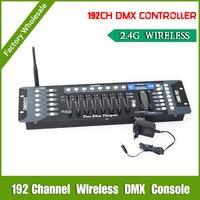 Vender 192 canales, 2,4G, controlador inalámbrico DMX con consola DMX, controlador inalámbrico Dmx transciever