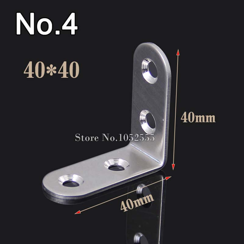 HOT 10pcs/lot metal furniture corner brackets 40*4...