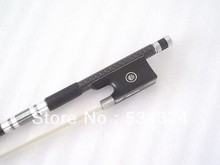 Filamentary silver volubled surface style  and  Carbon fiber  violin bow  with white Mongolia  horse tail ,size 4/4,1/4,3/4 ,1/2