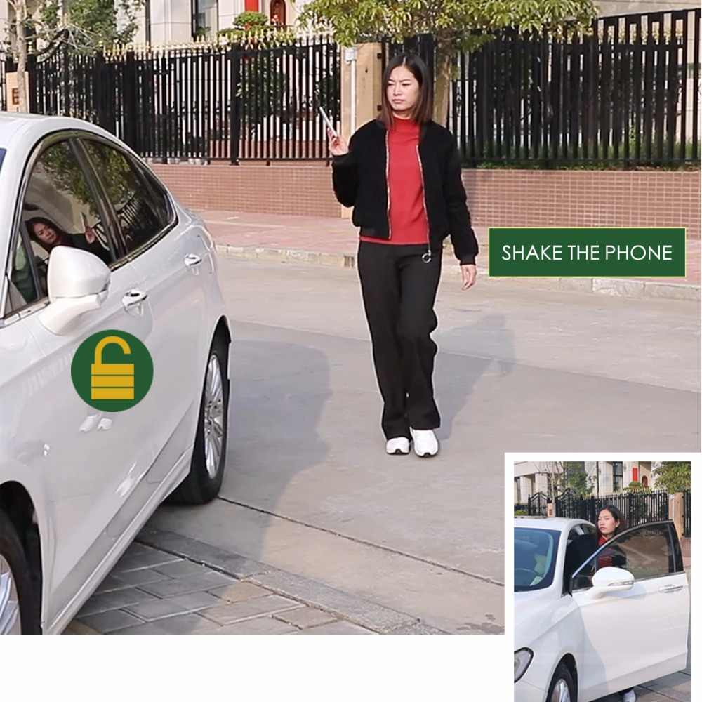 キーレスエントリロックプッシュボタン点火ドアロックユニバーサル車の警報 SmartPhonePKE 制御車の警報システム 686B