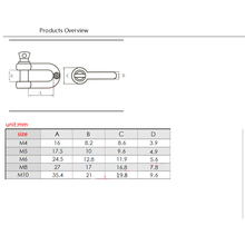 D-Type 304 stainless steel shackle M4 M5 M6 M8 M10