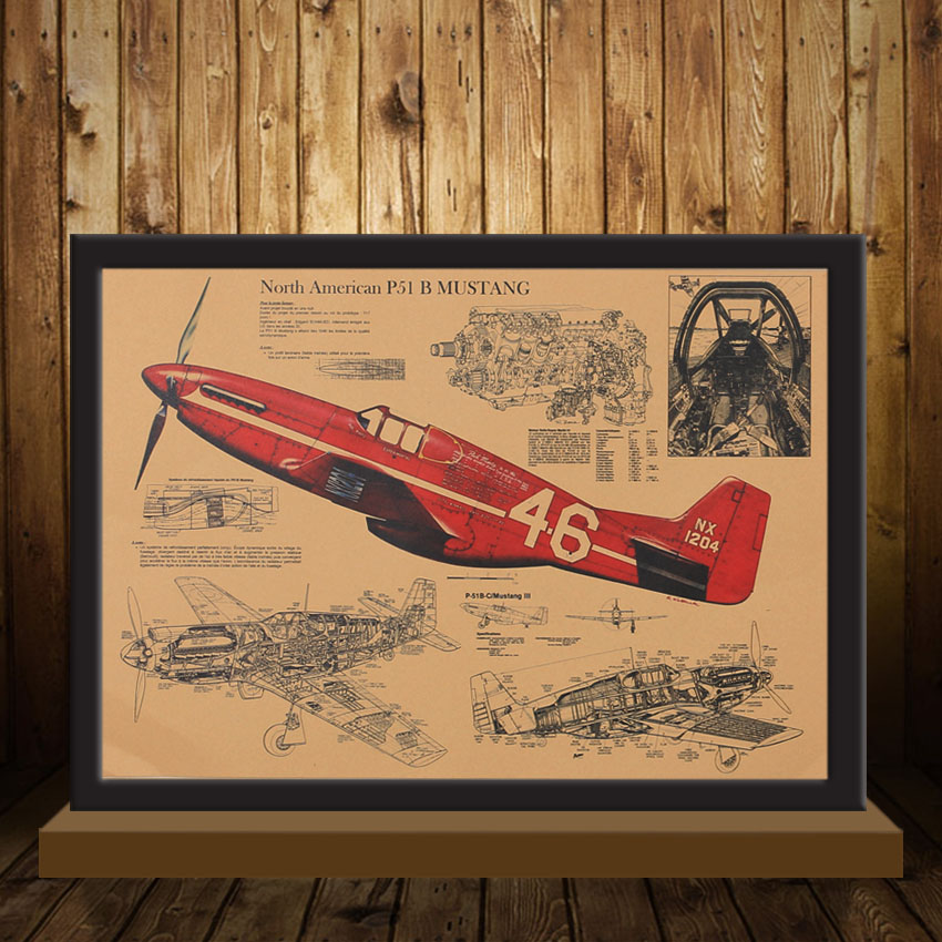 Wall Paper Decoration Design : Tie ler fighter aircraft structural retro poster