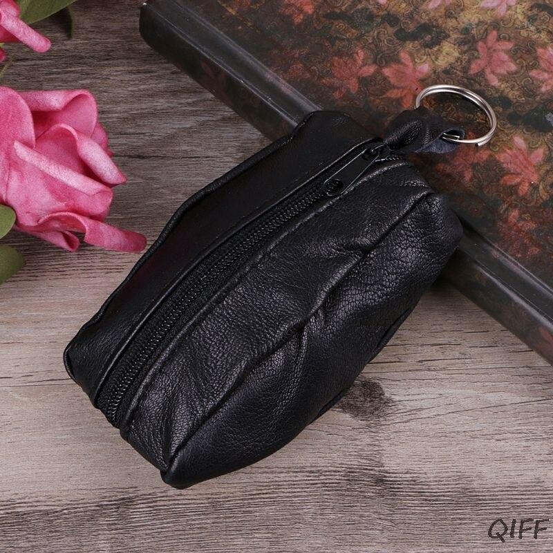 Women Girls Key Ring Wallet Pouch Coin Card Mini Purse Zipper Small Change Bag