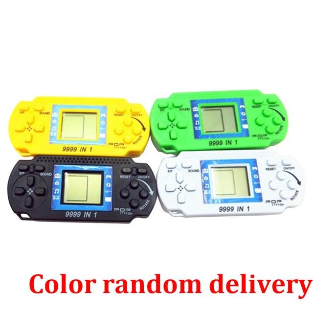 Klasyczna elektroniczna konsola do gier dla dzieci przenośna konsola do gier Tetris Brick świetny prezent bożonarodzeniowy dla dzieci