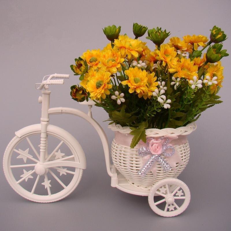 Zakka Ratán Triciclo Bicicleta cesta de mimbre decorativo flotador ...