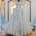 Роскошные Кружева Цветок Старинные Свадебные Платья Турция Gelinlik Brautkleid Суд Поезд Синий Невесты Платье Свадебные Платья Trouwjurken Китай