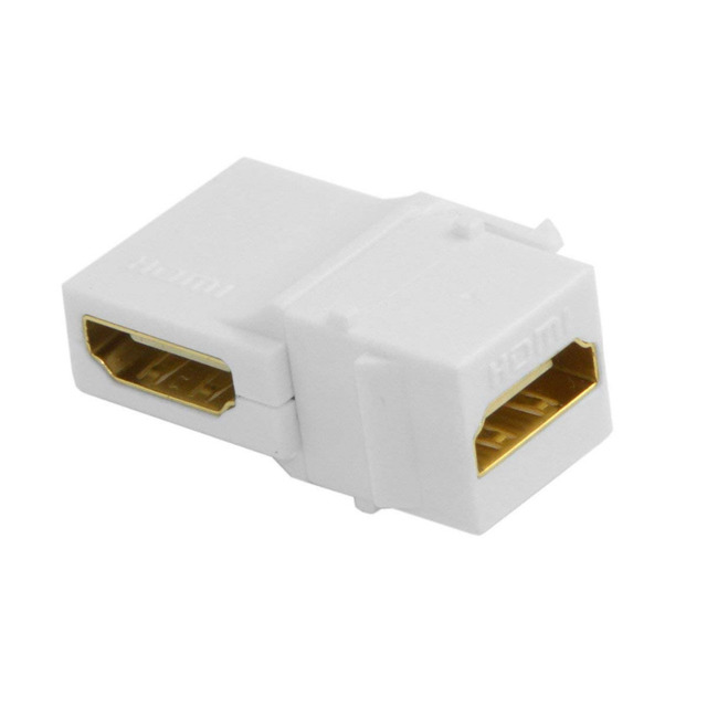 HDMI Keystone Jack Inserts 90 Degree Right Angled HDMI Female To Female Adapter Gold Plated Computer Cables & Connectors