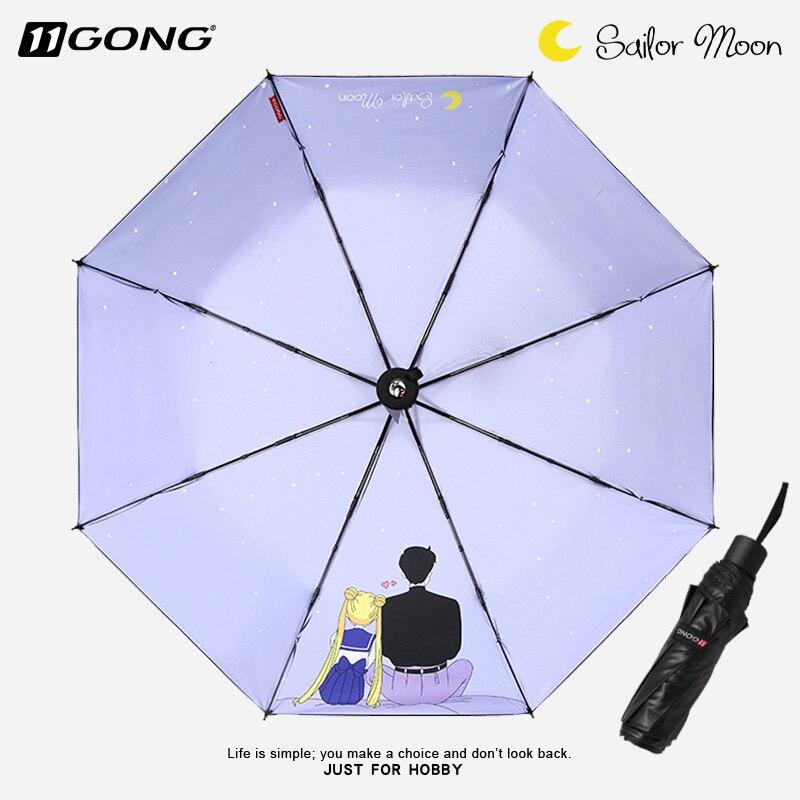 Anime Sailor Moon Cristal Usagi Dakimakura Cosplay Fold Sun Pluie Parapluie parapluie automatique Garçon Fille Anti-UV Voyage cadeau cool