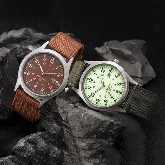 HTB1.X.Oav9TBuNjy0Fcq6zeiFXar Fashion Men Military Watch Quartz Analog Clock Canvas Wristband Sports Army Waterproof Wristwatch ~ @88 LXH