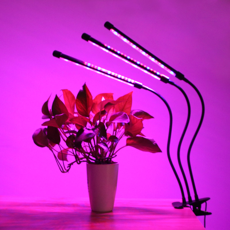 LED Grow Light Timer 9/18/27W Phyto Lamp Lamp For Plants Full Spectrum Fitolampy Auto Turn On/off USB Lamp For Indoor Seedlings