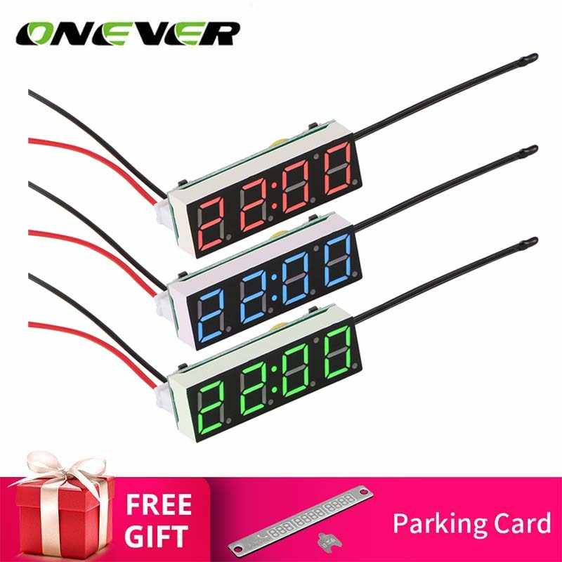 Car Electric Clock Digital Timer LED Temperature Clock Termometro Auto Thermometer Voltage Voltmeter Display for carro voiture